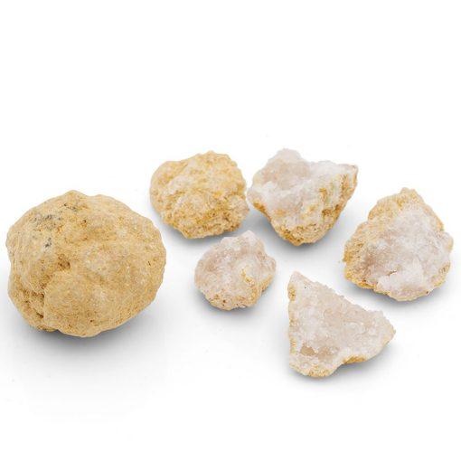 Geode med kvarts