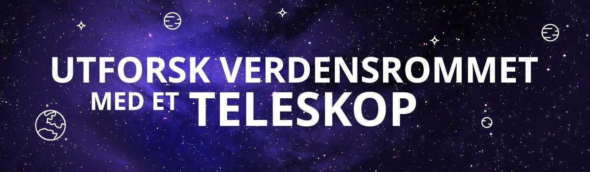 Utforsk verdensrommet med et teleskop