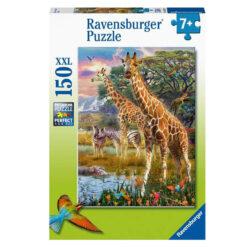 Ravensburger puslespill giraffer i Afrika 150 brikker