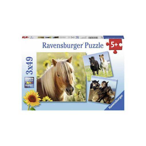 hester 3x49 biter puslespill ravensburger
