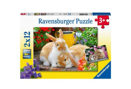 marsvin og kanin puslespill fra ravensburger