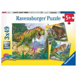 skumle dyr 3x49 biter puslespill fra ravensburger