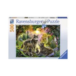 Ravensburger puslespill ulvefamilie 500 brikker